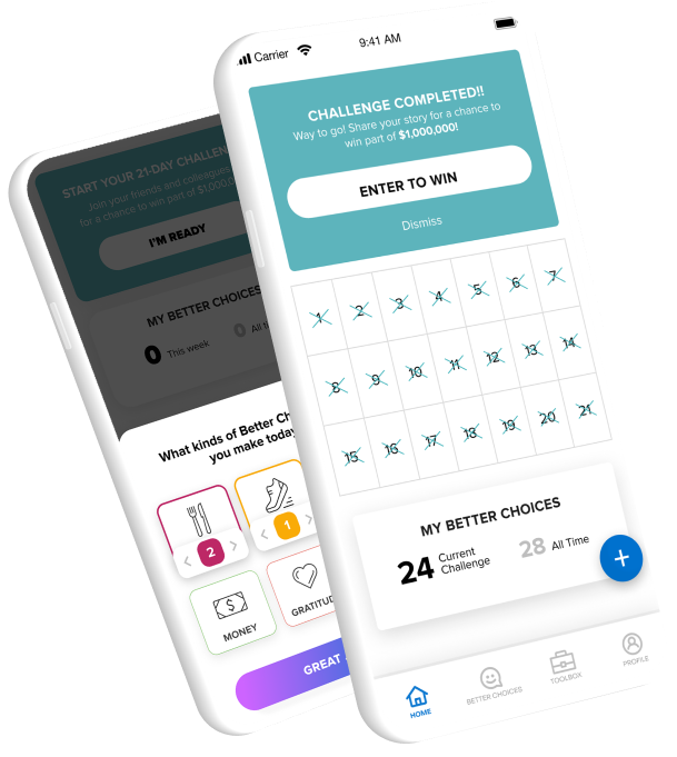 phones with challenge calendar and better choices
